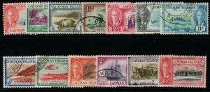 CAYMAN ISLANDS SG135/47 1950 DEFINITIVE SET FINE USED