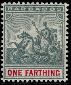 BARBADOS EDVII SG135, ¼d slate-grey & carmine, NH MINT. Cat £13. WMK MULT CA