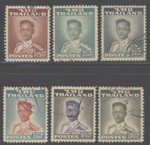 Thailand 1951 King Bhumibol Adulyadej set Sc# 283-95 used