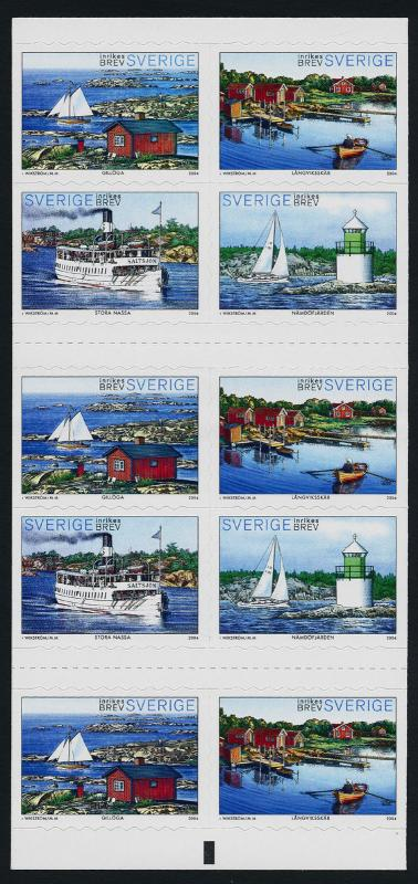 Sweden 2484e Booklet MNH Ships, Lighthouse