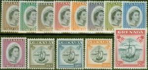 Grenada 1953-59 set of 13 SG192-204 Fine Mtd Mint
