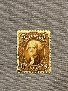 75, Jefferson, Red Brown, Used, Very Good Condition, PSE Cert Grade 50, CV $300