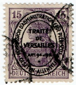 (I.B) Germany Postal : Allenstein Overprint 15pf