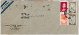 ARGENTINA  -  POSTAL HISTORY - AIRMAIL COVER to ITALY 1955 - EVITA