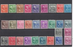 United States, 803-31, Presidential Series 1938 Singles, MNH