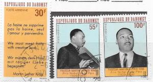 Dahomey #C71-C73    Martin Luther King  (U) CV$1.70