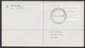 NEW ZEALAND 1986 $1.55 Frama Registered FDC ex Palmerston North.............B277