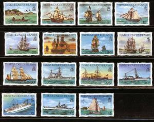 TURKS & CAICOS SHIPS SCOTT#578a/98a   MINT NEVER   HINGED