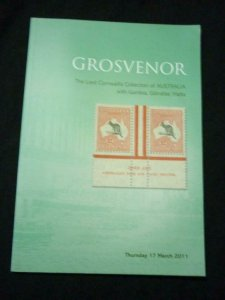 GROSVENOR AUCTION CATALOGUE 2011 AUSTRALIA 'CORNWALLIS' + GAMBIA MALTA ETC
