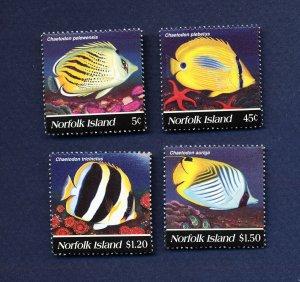 NORFOLK ISLAND - 577-580  - VF MNH - Fish - 1995