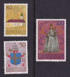 Liechtenstein  #816a-c  MNH 1985   visit Pope John Paul