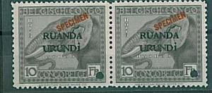 ANIMALS: ELEPHANT - STAMP: RUANDA URUNDI - SPECIMEN PAIR