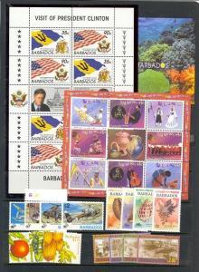 Barbados Scott 901 // 1072 Mint NH (7 items) Catalog Value $57.20