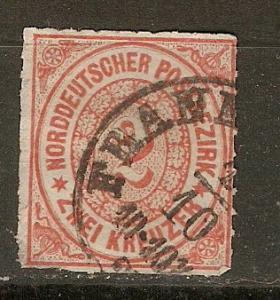 Germany N. German Confed. 8  Mi 8 Used VF 1868 SCV $55.00