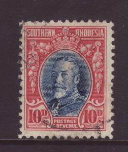 1931 Southern Rhodesia 10d Perf 12 Fine Used SG22
