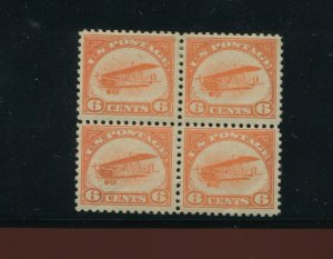 C1 Curtiss Jenny Air Mail Mint Block of 4 Stamps (Stock C1 A1)