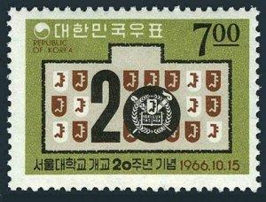 Korea South 542,MNH.Mi 558. Seoul University,20th Ann.1966.Emblem.