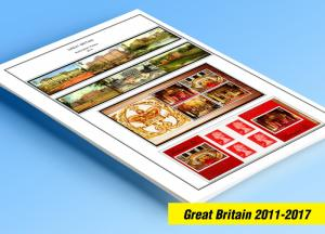 COLOR PRINTED GREAT BRITAIN 2011-2017 STAMP ALBUM PAGES (100 illustrated pages)
