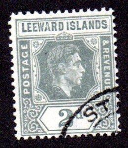 LEEWARD ISLANDS 107a USED SCV $3.75 BIN $1.50 ROYALTY