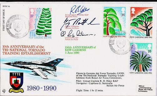 Great Britain. FDC.1990.Special Flight Cover.Signed by Pilots. Fine Used