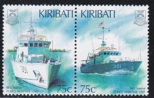 Kiribati # 674a, Police Maritime Unit, NH, 1/2 Cat.