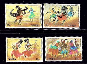 Zambia 192-95 MNH 1979 Dancers    (ap1073)