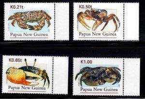 PNG Papua New Guinea Scott 885-889 MNH** Crab set