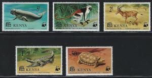 Kenya SC89-93Wildlife-EndangeredSpecies -PancakeTortoise-NileCrochodile (H)'77