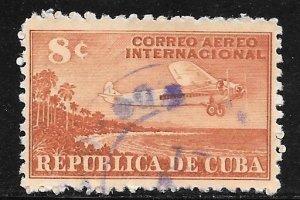 Cuba C40: 8c Airplane and Coast of Cuba, used, F-VF