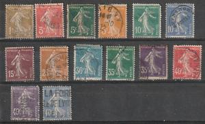 #156,158-60,163-5,169,173,175-6,178-80 France Used
