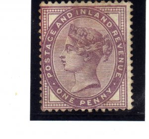 Queen Victoria 1881 one penny mauve sg174 used