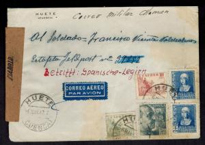 1942 madrid Spain Cover to Blue Division Soldier Russian Front WW 2 Feldpost