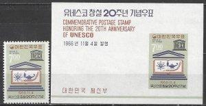 Korea  546-6a  MNH  UNESCO 20th Anniversary
