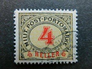 A3P23F262 Bosnia & Herzegovina Postage Due Stamp 1904 4h used