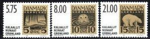 Greenland #387-9  MNH CV $13.75 (X1099)