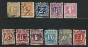 New South Wales various Stamp Duty revenues used to £1