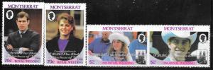 Montserrat #628-631 Royal Weding  (MNH) CV $5.75