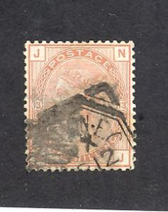Great Britain #65 Plate 13  wmk Spray of rose