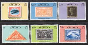 Anguilla 349-354 Stamp on Stamp MNH VF
