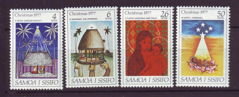 J19651 Jlstamps 1977 samoa set mnh #462-5 christmas