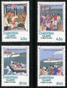Christmas Island Scott 319-22 Unused LHOG - Wartime Evacuation Set - SCV $7.85