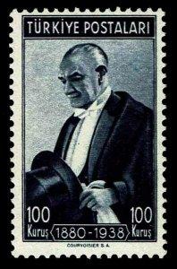1939-40 Turkey #841 Kemal Ataturk - OGNH - F/VF - $70.00 (ESP#4155)