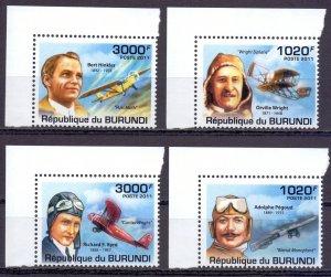 Burundi. 2011. Aviation pilots. MNH.