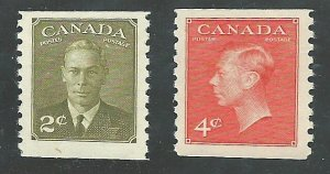 C  #309-310   Mint NH VF  1951 PD