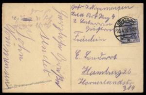 German 1920 Freikorps Grenzschutz Ost Guestrow Feld Art Reg Feldpost Cover 87461