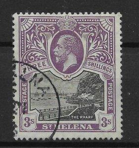 ST.HELENA SG81 1913 3/= BLACK & VIOLET USED