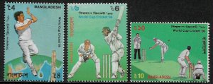 Bangladesh #511-3 MNH Set - World Cup Cricket