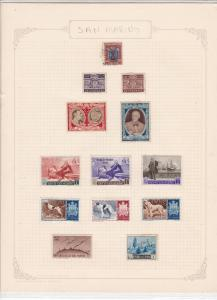 San Marino Stamps Page Ref 33226