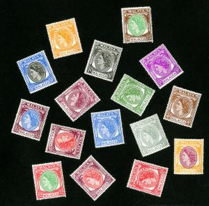Malacca Stamps # 29-44 VF OG VLH Set of 16 Scott Value $76.25