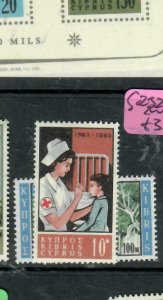 CYPRUS (PP2512B) QEII  RED CROSS   SG 232-233    MNH